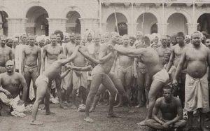 Lutteurs indiens en 1870