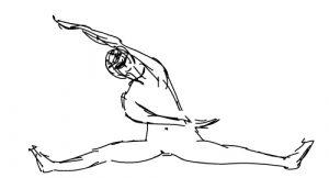 Posture de yoga et méridien coeur